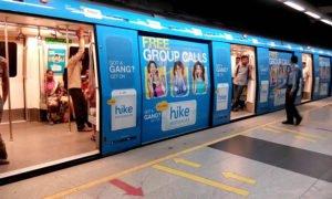 metro rail advertising in india