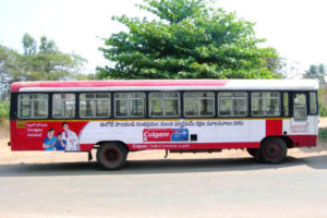 bus advertising agency in hyderabad, india