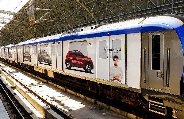 metro rail advertising in hyderabad, india